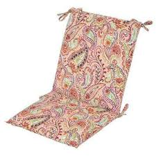 standard chili paisley outdoor dining chair cushion