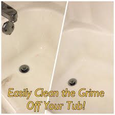 easily clean grime off your bathtub to make it spotless again