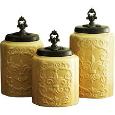 Green Canister Sets Kitchen Kitchen Certified International Tuscan Rooster 3 Piece Canister