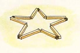 Resultado de imagen de estrella con cerillas