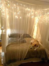 Canopy Bed Curtains With Lights Canopy Bed Lighting Bed Curtain Bed ...