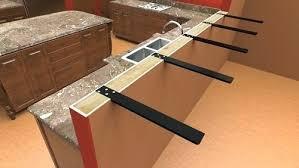countertop overhang support granite countertop overhang support requirements quartz countertop overhang support