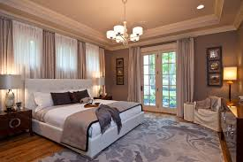 Terrific Taupe Curtain Panels Decorating Ideas Images in Bedroom  Traditional design ideas