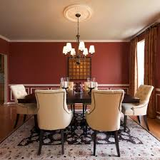 Horrible Interior Room Red Room Along With Teak Wood Table Sets Added  Square Wall Mirror Decors