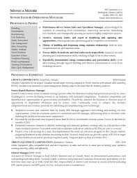 Sample Resume Operations Manager Operations And Sales Manager