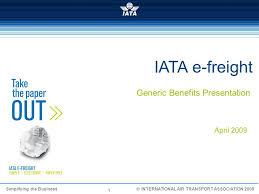 Uk Charts April 2009 Iata E Freight Generic Benefits Presentation April Ppt Video