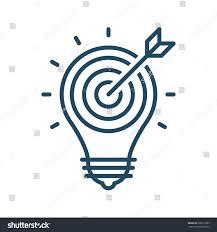 Light Bulb Symbol Meaning Target Arrow Inside Light Bulb Vector Stock Vector Royalty