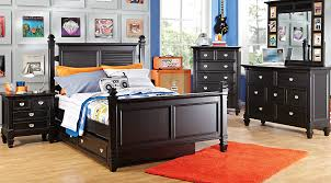 black furniture for bedroom. Belmar Black 5 Pc Full Poster Bedroom Furniture For
