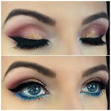 golden glitter eye makeup for parties