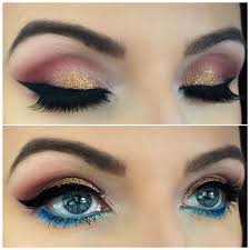 golden glitter eye makeup for parties