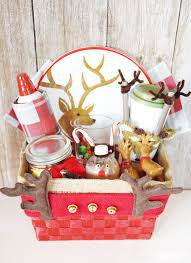 reindeer gift basket such a fun gift basket idea for