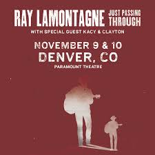 Paramount Denver Seating Chart Ray Lamontagne Just Passing Through Altitude