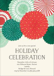 Holiday Rosettes Party Invitation Christmas Gift Ideas