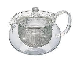 hario glass chacha kyusu maru tea pot
