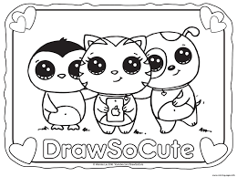 Draw So Cute Coloring Pages Girls
