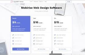 Web Design Package Pricing Mobirise Web Design Software Pricing Table Of Appamp