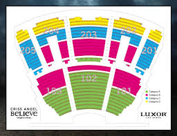 Circus De Soleil Seating Chart Criss Angel Mindfreak By Cirque Du Soleil At Luxor Las