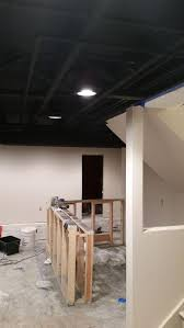 exposed ceiling lighting basement industrial black. Exposed Black Basement Ceiling Lighting Industrial