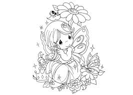 Small Picture Cute Fairy Coloring For Girl Pages Bebo Pandco