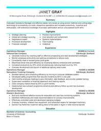 sample resume operations manager  tomorrowworld cooperations manager management modern  thumbnail   sample resume operations manager