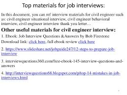 Civil Engineering Interview Questions And Answers Guide Download