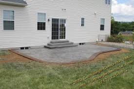stamped concrete patio with stairs. Delighful Patio Stunning New Stamped Concrete Patio In York PA  With Stamped Concrete Patio Stairs N