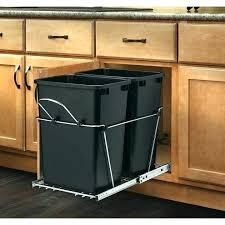 free standing trash can cabinet medium size of kitchen garbage storage diy island with kit