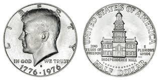 1976 Half Dollar Value Chart 1976 S Kennedy Bicentennial Half Dollar 40 Silver Coin