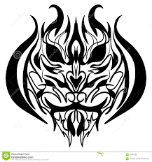 The Stylized Image Of A Tiger Head Vector Stock Vector