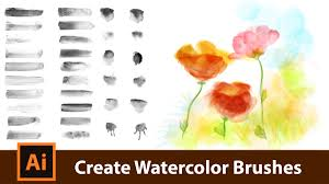 free watercolor brushes illustrator create your own watercolor brushes for adobe illustrator youtube