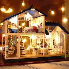 124 diy wooden handcraft miniature provence dollhouse voice activated led lightmusic with cover aliexpresscom buy 112 diy miniature doll house