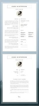Word Masculine Resume Template Modern The Best Cv Resume Templates 50 Examples With Resume Design For It