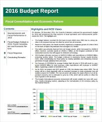 Sample Budget Report 9 Documents In Pdf Word