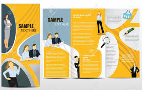 Advertising Brochure Template Templates For Advertising Brochure With Business People Royalty Free 1