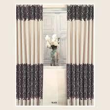 Black Printed Pattern window Curtains