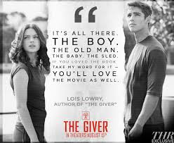 Love Movie Quotes Adorable Lois Lowry Says Book Fans Will Love 'The Giver' Movie Walden Media