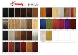 Janet Collection Color Chart Janet Collection Premium Synthetic Fiber Front Rear Full