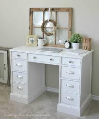 old desk turned pretty white painted desk makeover love this farmhouse desk makeover so