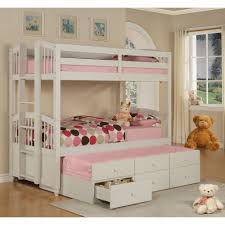 bunk bed with trundle and drawers. Delighful And Powell May Pure White Twin Trundle Bunk Bed Storage Drawer Intended With And Drawers