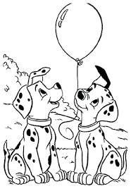 useful dalmation coloring page strong pages 101 dalmatians disney family 9400