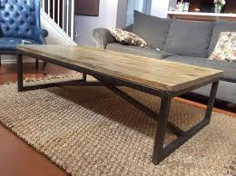 catchy rustic wood and metal coffee table writehookstudio