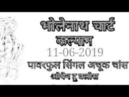 11 06 2019 Kalyan Free Bholenath Chart Kala Khajana Bam