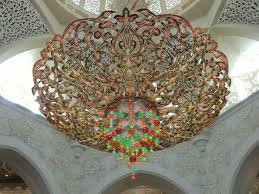 title beautiful chandelier of sheikh zayed