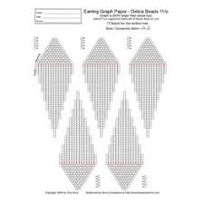 Individual Graph Paper Graph Paper Brick Peyote Comanche Earring 15 Beads Wide