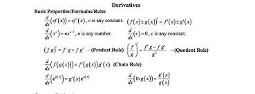 Common Derivatives And Integrals Cheat Sheet Quicklycode