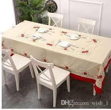 tablecloth big size embroidered table cloth rectangle 70 108 inches 175 265cm country tablecloths plastic round tablecloths from wish 1
