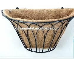 metal wall planters mounted decorative basket wrought iron planter