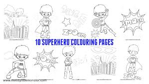 Top 40 superhero coloring pages: Free Printable Superhero Colouring Pages Messy Little Monster
