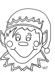 Christmas Elf Free Coloring Page