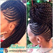 Braided Mohawk Hairstyles 28 Best Senegalese Twists In A Mohawk Hair Inspiration Pinterest